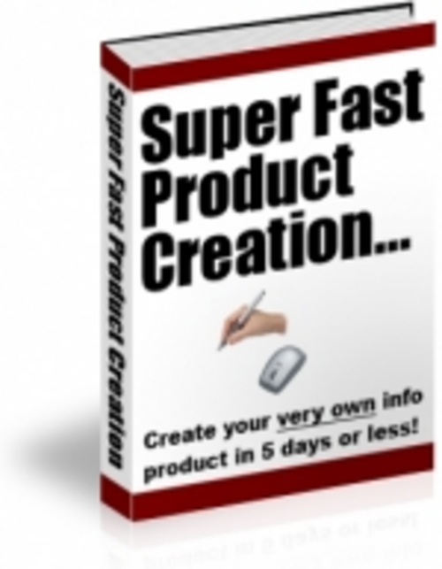 Product picture Super Fast Product Creation
