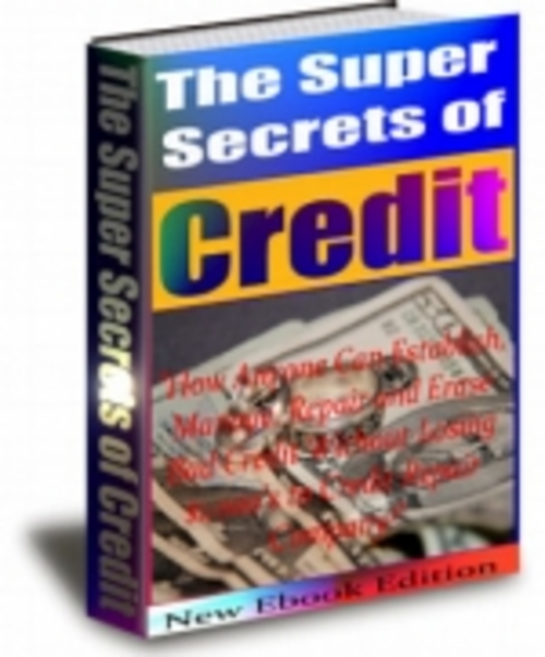 Product picture The Super Secrets Of Credit