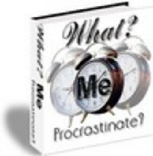 Product picture What? Me Procrastinate?